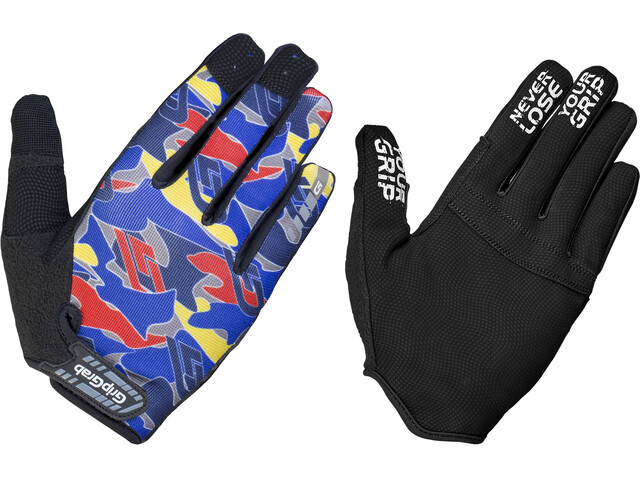 GripGrab Rebel Rugged Full Finger Gloves blue camo